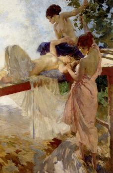 Sir William Russell Flint : The Painted Bridge