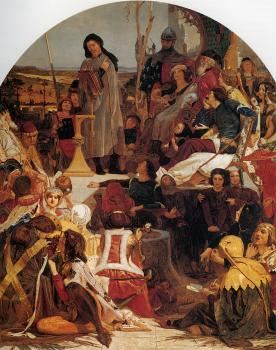 Ford Madox Brown : Chaucer at the Court of Edward