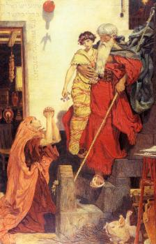 Ford Madox Brown : Elijah Restoring The Widows Son