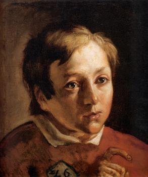 Ford Madox Brown : Head of a Page Boy