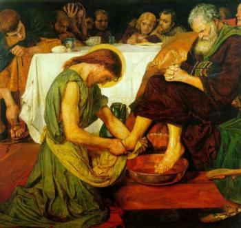 Ford Madox Brown : Christ washing
