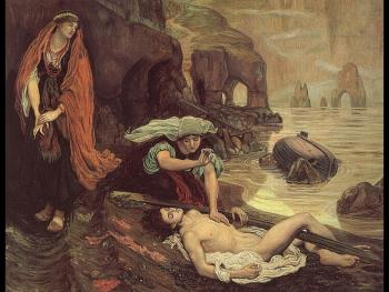 Ford Madox Brown : Don Juan Discovered by Haydee