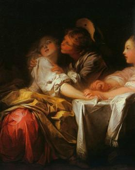 Jean-Honore Fragonard : The Stolen Kiss