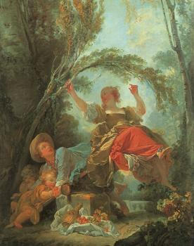 Jean-Honore Fragonard : The See Saw