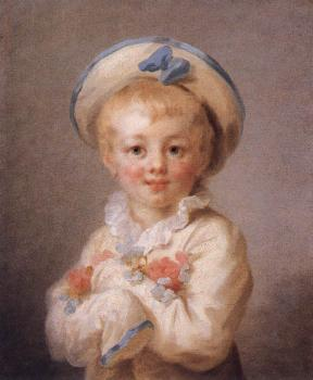 Jean-Honore Fragonard : A Boy as Pierrot