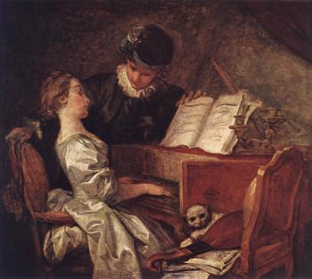 Jean-Honore Fragonard : Music Lesson