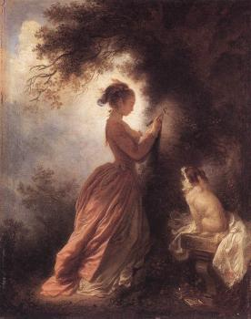 Jean-Honore Fragonard : The Souvenir