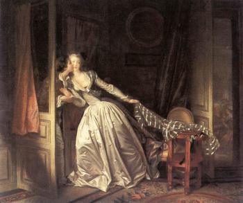 Jean-Honore Fragonard : The Stolen Kiss III