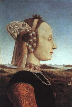 Piero Della Francesca : Portrait of Battista Sforza