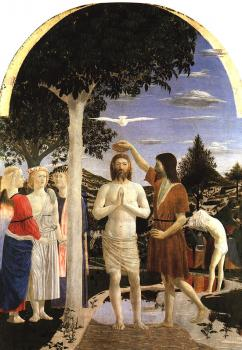 Piero Della Francesca : Baptism of Christ