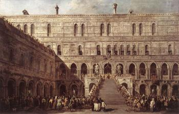 Francesco Guardi : The Coronation of The Doge