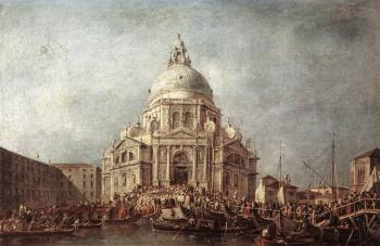 Francesco Guardi : The Doge at the Basilica of La Salute