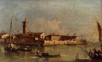View Of The Island Of San Michele Near Murano Venice