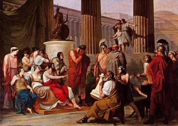 Francesco Hayez : Ulysses at the court of Alcinous