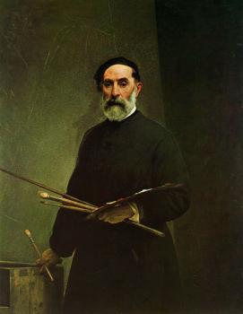 Francesco Hayez : Self-portrait at age 69