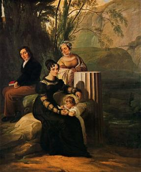 Francesco Hayez : Portrait of the family Stampa di Soncino