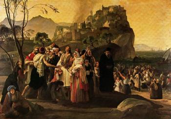 Francesco Hayez : The Refugees from Parga