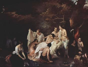 Francesco Hayez : Bath of the Nymphs