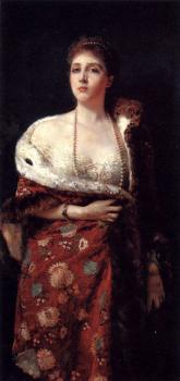 Francesco Paolo Michetti : Portrait Of A Lady