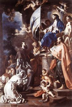 Francesco Solimena : St Bonaventura Receiving The Banner Of St Sepulchre From The Madonna