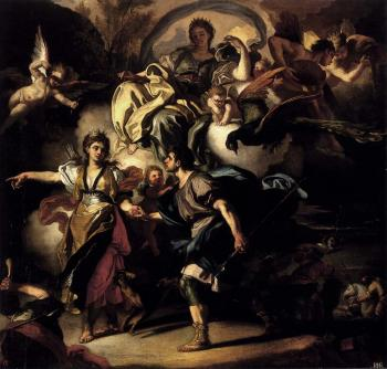 Francesco Solimena : The Royal Hunt Of Dido And Aeneas