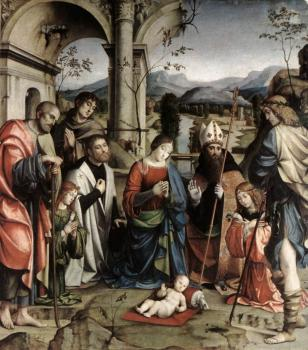 Francesco Francia : Adoration of the Child