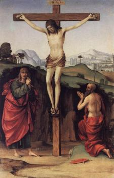 Francesco Francia : Crucifixion with Sts John and Jerome