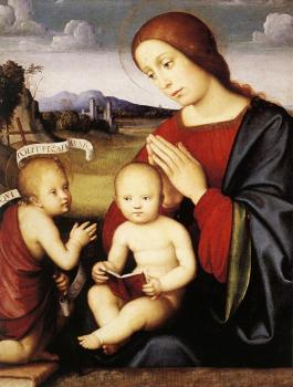 Francesco Francia : Madonna and Child with the Infant St John the Baptist