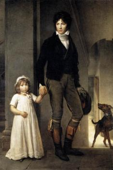Francois Gerard : Jean Baptist Isabey Miniaturist With His Daughter