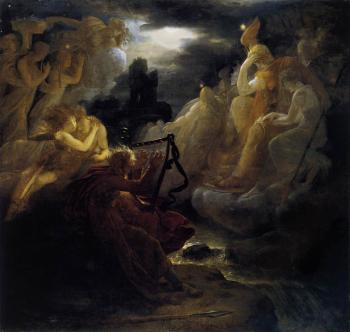 Francois Gerard : Ossian Awakening The Spirits On The Banks