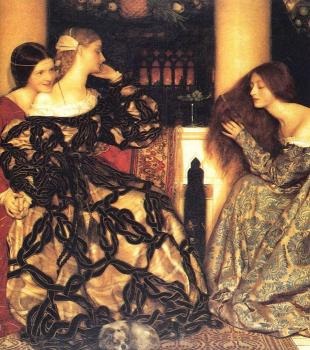Frank Cadogan Cowper : Venetian Ladies Listening to a Serenade