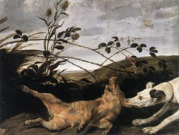 Frans Snyders : Greyhound Catching A Young Wild Boar