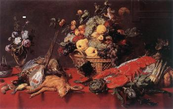 Frans Snyders : Still Life With A Basket Of Fruit