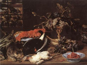 Frans Snyders : Still life With Crab And Fruit