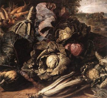 Frans Snyders : Vegetable Still Life