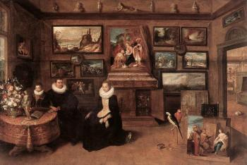 Frans The Younger Francken : Sebastiaan Leerse In His Gallery