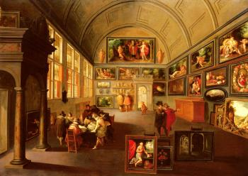 Frans The Younger Francken : The Interior Of A Picture Gallery