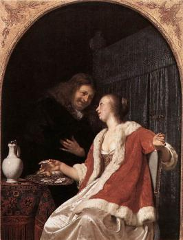 Frans Van Mieris The Elder : A Meal of Oysters