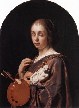 Frans Van Mieris The Elder : Pictura An Allegory of Painting