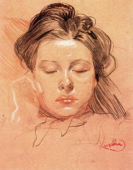 Frantisek Kupka : Sleeping Face