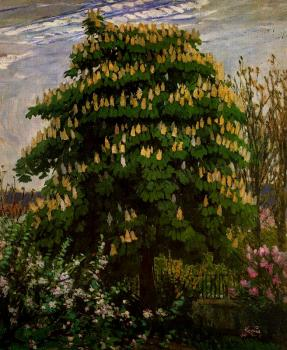 Frantisek Kupka : The chestnut tree in blossom