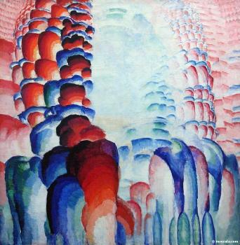 Frantisek Kupka : Hindu Motif, or Graduated Red