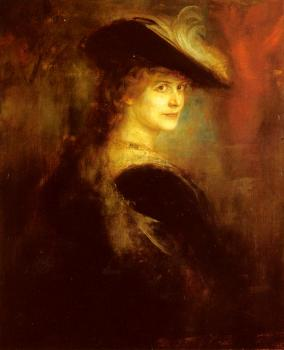 Portrait Of An Elegant Lady In Rubenesque Costume