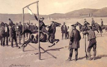 Frederic Remington : A Gander Pull