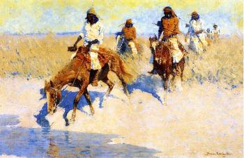 Frederic Remington : Pool in the Desert