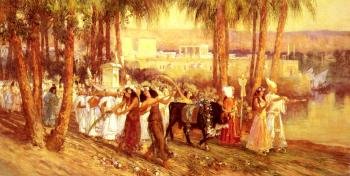 Frederick Arthur Bridgman : An Egyptian Procession