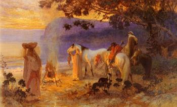 Frederick Arthur Bridgman : On The Coast Of Kabylie