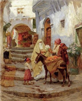 Frederick Arthur Bridgman : The Orange Seller