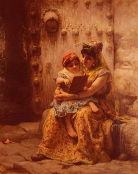 Frederick Arthur Bridgman : The Reading Lesson