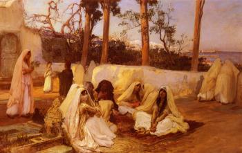 Frederick Arthur Bridgman : Women At The Cemetery